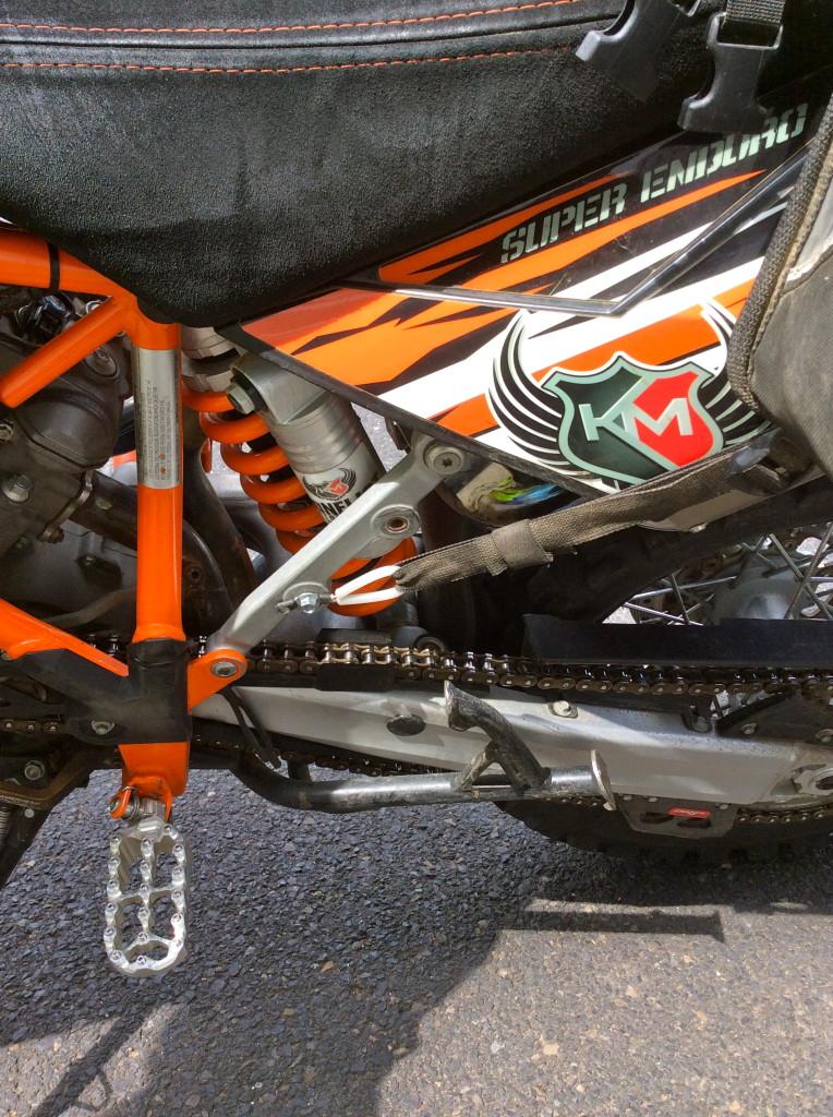 KTM 950 w alternative Great Basin strap attachment