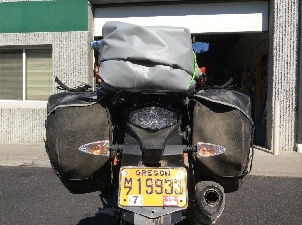 KTM 1190 Adventure w Siskiyou Panniers - rearview