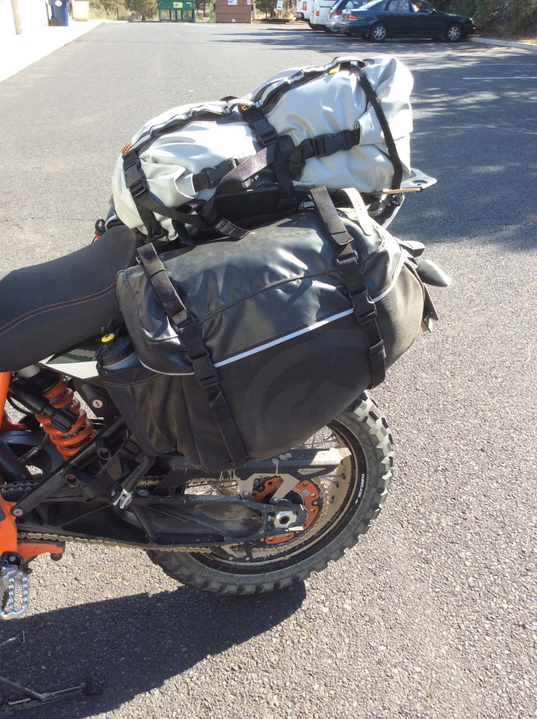 Tillamook Dry Bag, Siskiyou Panniers on KTM 1190