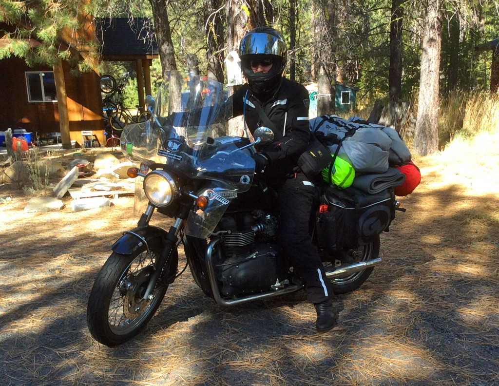 "Black Tie 2 Black Top rider Danell Lynn's ""1 Woman, 1 Bike, 1 Year, 50 US States + Canada"""