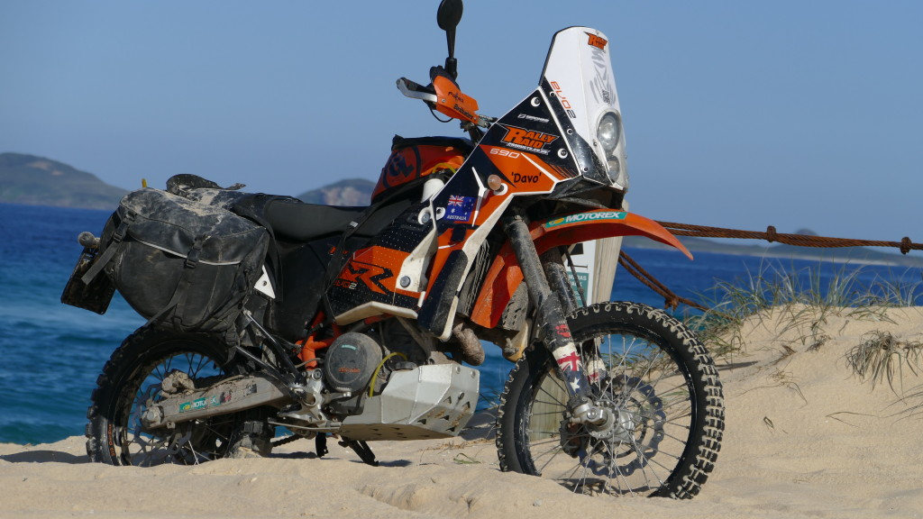 KTM 690 Enduro with Giant Loop Soft Luggage