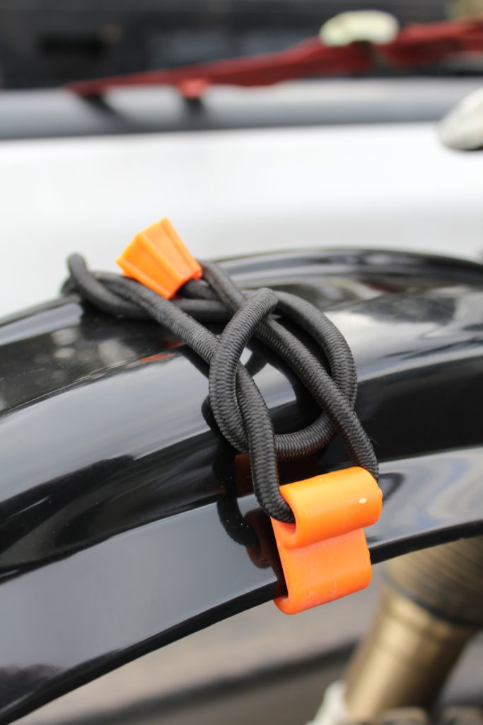 Rubber Boa dirt bike and dual sport fender straps