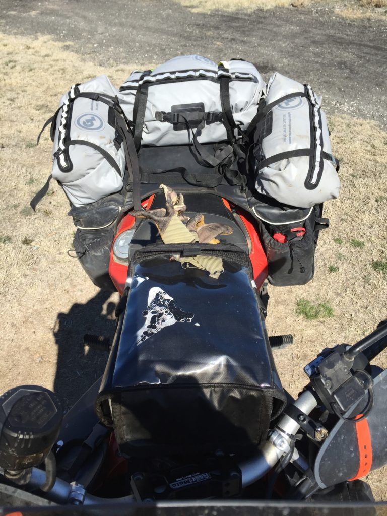 Packing camping gear for two on  a motorcycle can be a challenge