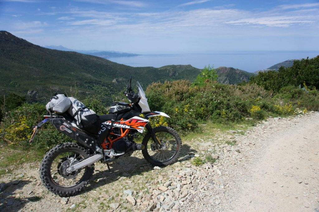 KTM 690 Enduro with Giant Loop dual sport soft luggage