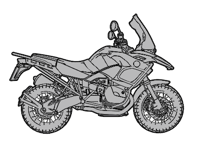 Adventure Touring Motorcycle icon