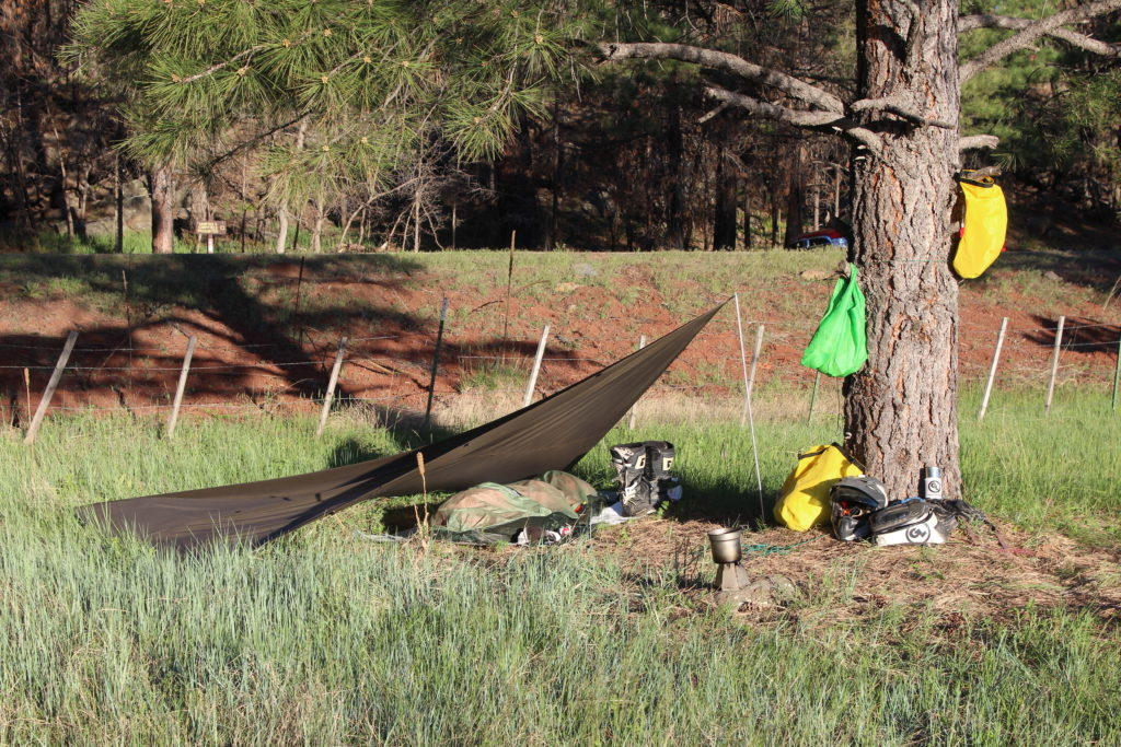 Giant Loop camping system for motorcycle adventure travel