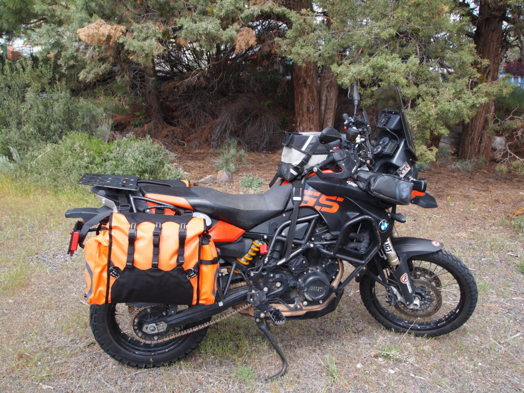Limited edition panniers in orange BMW